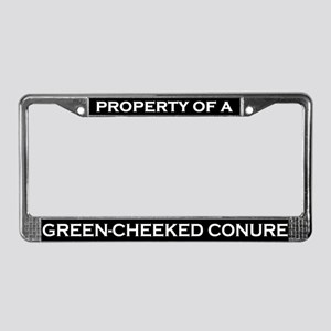 Property of Green Cheeked Conure License Frame