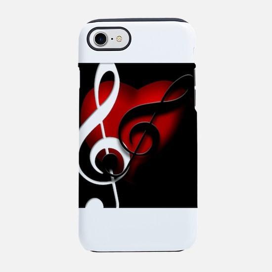 HeartandClefs.jpg iPhone 7 Tough Case