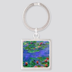 Pillow Monet WLRed Square Keychain