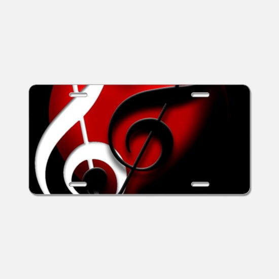 HeartandClefs.jpg Aluminum License Plate