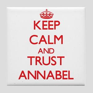 Keep Calm and TRUST Annabel Tile Coaster