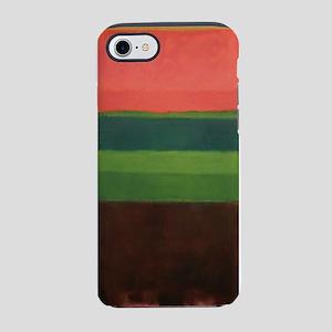 ROTHKO GREEN BROWN PEACH iPhone 7 Tough Case