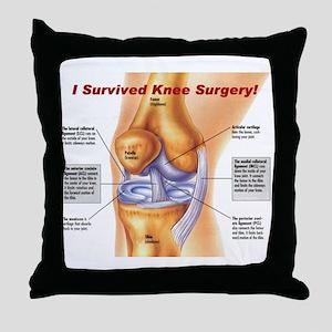 Knee Surgery Gift 11 Throw Pillow