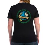 Earth Day Women's V-Neck Dark T-Shirt