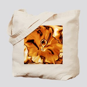 abstract flower metallic golden Tote Bag