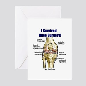 Knee Surgery Gift 10 Greeting Cards (Pk of 10)