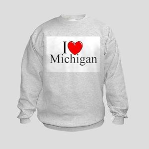 """I Love Michigan"" Kids Sweatshirt"