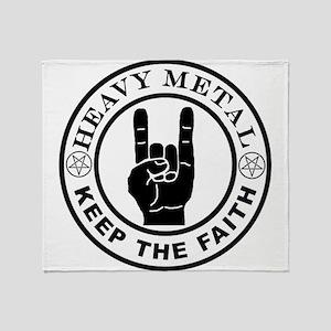 HEAVY METAL KEEP THE FAITH northern Throw Blanket