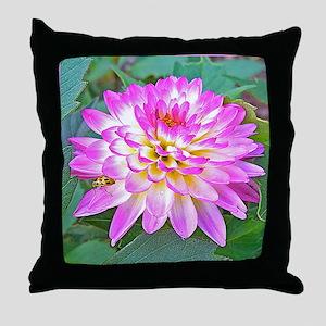 Crazy Love Dahlia Flower Unique Gifts Throw Pillow
