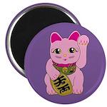 Pink Maneki Neko Magnet