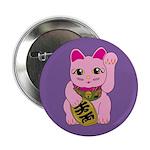 Pink Maneki Neko Button