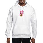 Pink Maneki Neko Hooded Sweatshirt