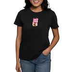 Pink Maneki Neko Women's Dark T-Shirt