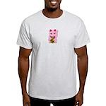 Pink Maneki Neko Light T-Shirt