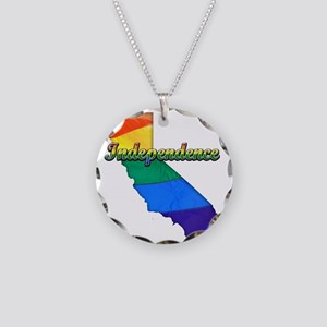 Independence Necklace Circle Charm