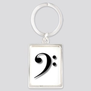 Bass Clef by Leslie Harlow Keychains
