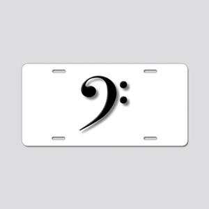 Bass Clef by Leslie Harlow Aluminum License Plate