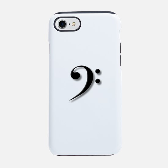 Bass Clef by Leslie Harlow iPhone 7 Tough Case