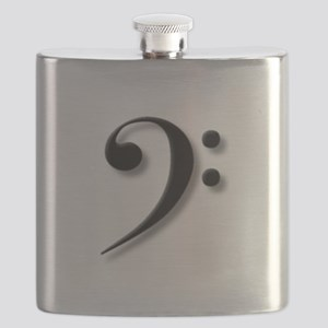Bass Clef by Leslie Harlow Flask