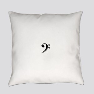 Bass Clef by Leslie Harlow Everyday Pillow