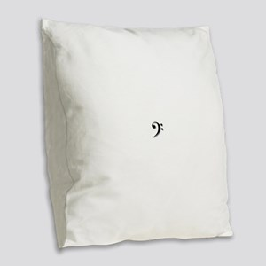 Bass Clef by Leslie Harlow Burlap Throw Pillow