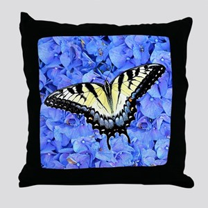 Yellow Swallowtail Butterfly Unique G Throw Pillow
