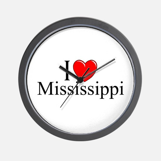"""I Love Mississippi"" Wall Clock"
