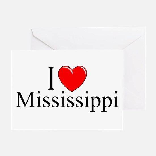 """I Love Mississippi"" Greeting Cards (Pk of 10)"