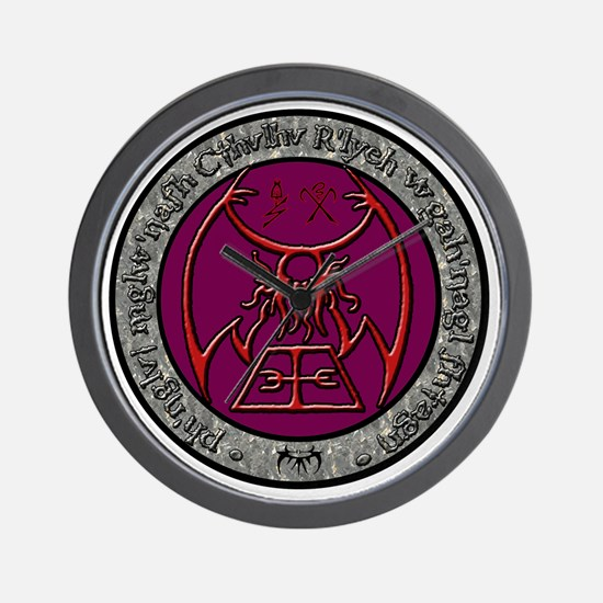 seal of rlyeh color Wall Clock