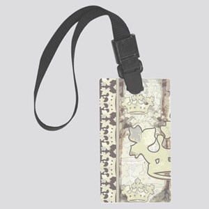 textureCrTreePltJr Large Luggage Tag