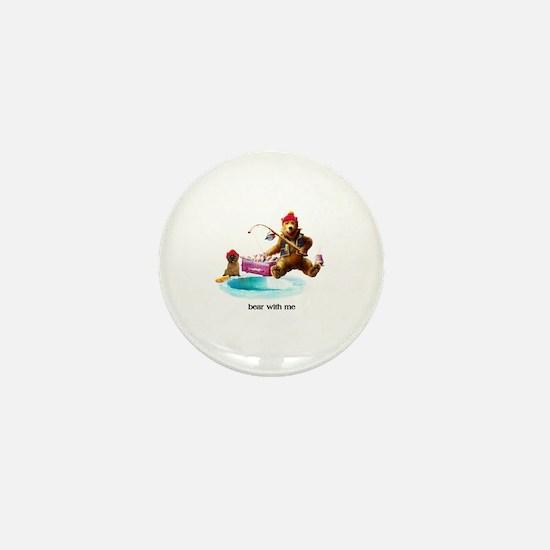 Cute Ice fishing Mini Button