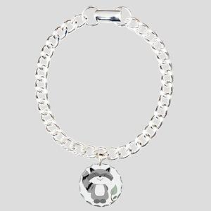 Raccoon Charm Bracelet, One Charm
