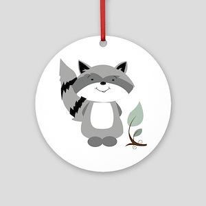Raccoon Round Ornament