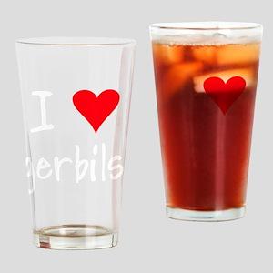 iheartgerbils_black Drinking Glass