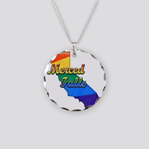 Merced Falls Necklace Circle Charm