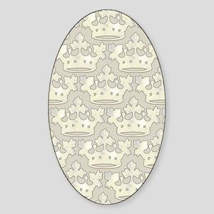 textureCrownPltKindleS Sticker (Oval)