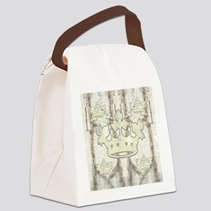 textureCrTreesQduvetC Canvas Lunch Bag