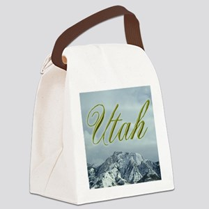 MountainPhotosWideUtah Canvas Lunch Bag