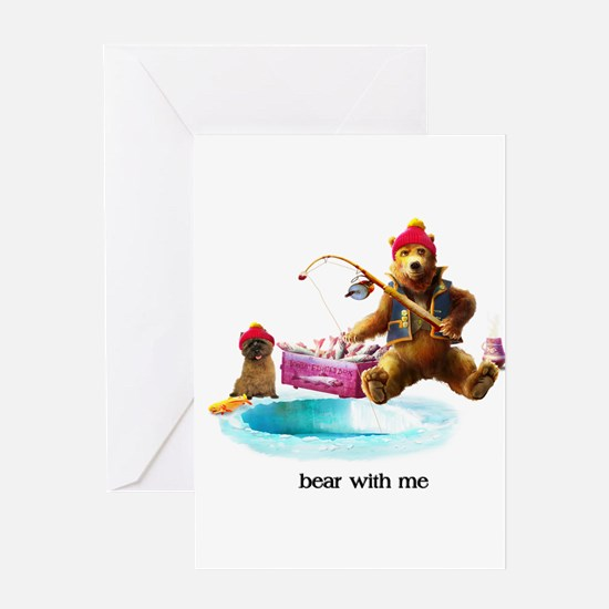 Cairn Terrier Bear With Me Greeting Cards