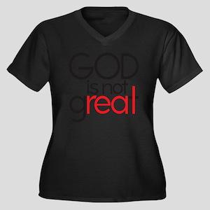 godgreat cop Women's Plus Size Dark V-Neck T-Shirt