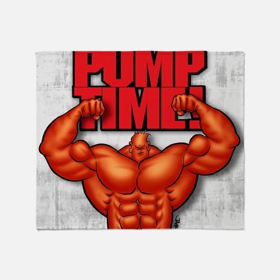 PumpTime2 Throw Blanket