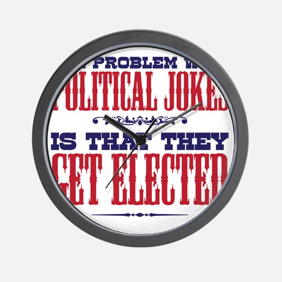 politicaljokes copy Wall Clock