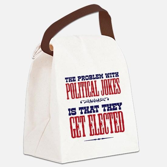 politicaljokes copy Canvas Lunch Bag