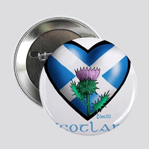 """Heart and Thistle 2.25"""" Button"""