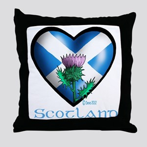 Heart and Thistle Throw Pillow