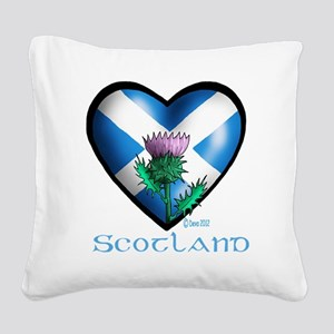 Heart and Thistle Square Canvas Pillow