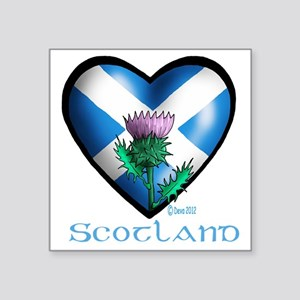 "Heart and Thistle Square Sticker 3"" x 3"""