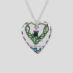 Heart Scotland White Necklace Heart Charm