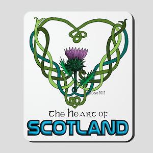 Heart Scotland White Mousepad