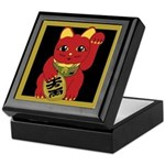 Red Maneki Neko Keepsake Box